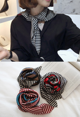 配色几何and条纹元素领巾