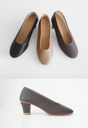 优雅配色中跟浅口鞋